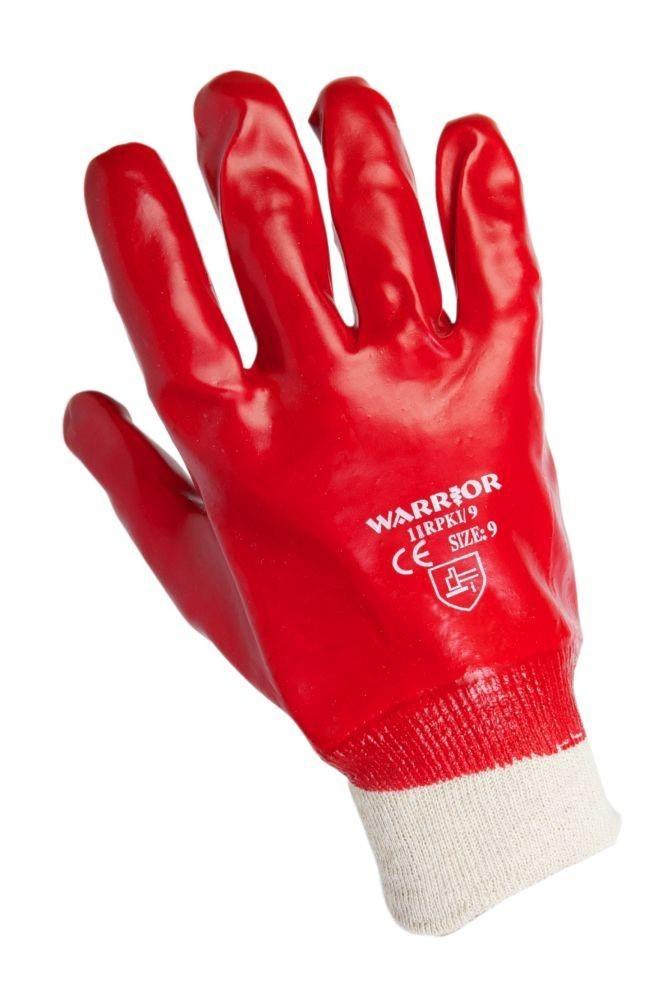 Warrior Red PVC Knit Wrist