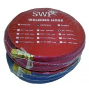 6mm Fitted Oxygen/Acetylene Hose